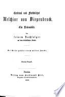Cardinal und Fürstbischof M. von Diepenbrock. Ein Lebensbild. Von seinem Nachfolger auf dem bischöflichen Stuhle. Miniatur-Ausgabe
