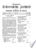 Allgemeine Oesterreichische Zeitschrift für den Landwirth, Forstmann und Gaertner