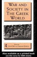 download ebook war and society in the greek world pdf epub