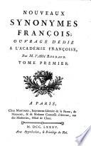 Nouveaux Synonymes François