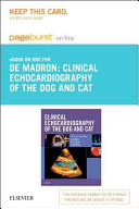 Clinical Echocardiography of the Dog and Cat Pageburst E book on Kno