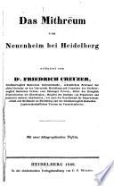 Das Mithrēum von Neuenheim bei Heidelberg, erläutert
