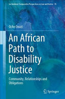 African path to disability justice : community, relationships and obligations document cover
