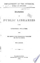 Statistics of Public, Society and School Libraries
