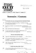 tudes   Inuit   studies