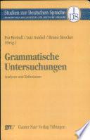 Grammatische Untersuchungen