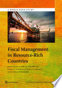 Fiscal Management in Resource Rich Countries