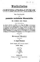 Musikalisches conversations-lexikon