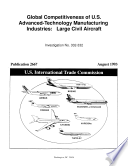 Global Competitiveness of U S  Advanced Technology Manufacturing Industries  Large Civil Aircraft  Inv  332 332