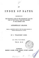 An index of dates, a complete index to the enlarged ed. of [J.] Blair's Chronological tables