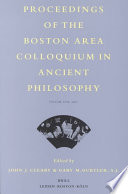 Proceedings of the Boston Area Colloquium in Ancient Philosophy  Volume 17 Volume XVII  2001