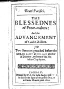 download ebook foure sermons: viz. 1. the blessednesse of peacemakers. 2. the aduancement of gods children. preached before the king. 3. the sinne against the holy ghost. preached at pauls crosse. 4. the christian petitioner. preached at oxford on the act sunday pdf epub