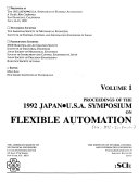 Proceedings of the Japan U S A  Symposium on Flexible Automation