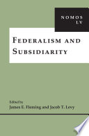 Federalism and Subsidiarity Scholars In Political Science Law And Philosophy Address