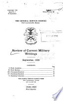 Command And General Staff School Quarterly