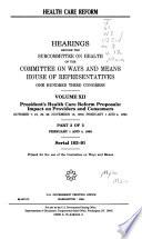 Health Care Reform  Serial 103 91 Book PDF