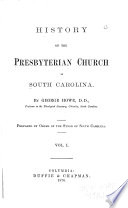 History of the Presbyterian Church in South Carolina