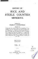 History of Rice and Steele Counties  Minnesota Book PDF
