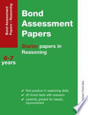 Bond Assessment Papers Starter Papers in Reasoning 6 7 Years