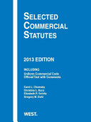Selected Commercial Statutes, 2013