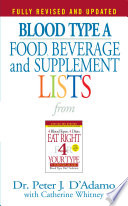Blood Type A Food  Beverage and Supplemental Lists