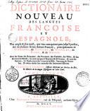 Dicionario nuevo de las lenguas espa  ola y francesa    Por Francisco Sobrino
