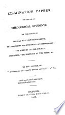 Examination Papers for the Use of Theological Students