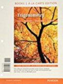 Trigonometry  Books a la Carte Edition