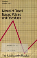Manual of Clinical Nursing Policies and Procedures