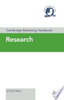 Research / Steve Bax &#59; Cambridge Marketing College.