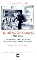 Les frères éducateurs, 1920-1965