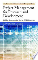 Project Management For Research And Development : (r&d) to maintain and grow market share. if...