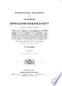 Internationale Zeitschrift für allgemeine Sprachwissenschaft
