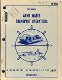 Army Water Transport Operations