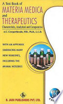 A Textbook of Materia Medica and Therapeutics