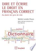 illustration du livre Dire et écrire le droit en français correct
