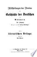 Mitteilungen des Vereines für Geschichte der Deutschen in Böhmen