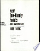 New One-family Homes Sold and for Sale: 1963 to 1967