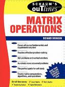 Schaum s Outline of Matrix Operations