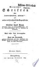 Vermischte Schriften über staatswirthschaftliche, philosophische und andere wissenschaftliche Gegenstände: Encyklopädische Ansichten einiger Zweige der Gelehrsamkeit