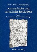 Kanaanaische und Aramaische Inschriften