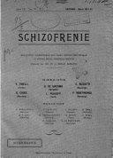 Schizofrenie bollettino trimestrale del primo Centro Provinciale di studio della demenza precoce