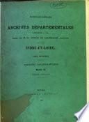 Inventaire-sommaire des archives départementales. Indre-et-Loire, par C. Loizeau de Grandmaison