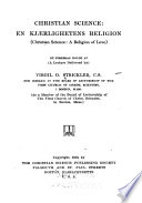 Christian science  en kj  rlighetens religion