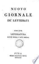Nuovo giornale de' letterati [formerly Giornale de' letterati]. [With] Indice