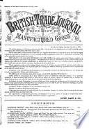 The British Trade Journal And Export World
