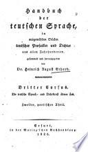 Probeblätter teutscher sprach- und dichtkunst älterer zeit ...