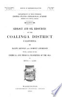 Geology and Oil Resources of the Coalinga District  California