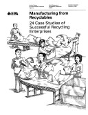 download ebook manufacturing from recyclables pdf epub