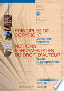 Principles of Copyright Law - Cases and Materials